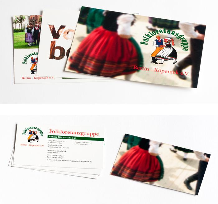 Visitenkarte Postkarte Tanzgruppe